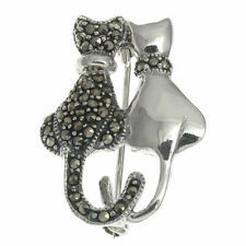 Marcasite Sterling Silver Fine Brooches & Pins