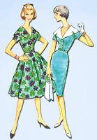 1960s Vintage McCalls Sewing Pattern 4919 Misses Wiggle Dress Size 14 34 Bust