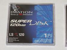 """5 Imation 3.5"""" floppy disks: LS120 SuperDisk(120MB) -  requires LS120 disk-drive"""