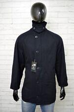 Cappotto MARINA YACHTING Uomo Taglia 50 Giacca Jacket Man Giubbotto Parka Blu