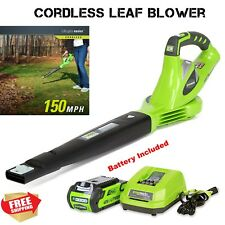 Greenworks Lightweight Cordless Leaf Blower 40V Rechargeable Battery Included