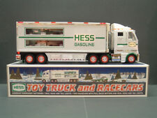NEW 2003 Hess Toy Truck Tractor Trailer with two race cars NEW MINT IN BOX