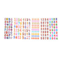 6 Sheets Numbers Scrapbooking Bubble Stickers 3D Cartoon Stationery Stickers ME