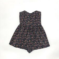 UO Pins And Needles Micro Floral Romper Dress Babydoll Cotton S