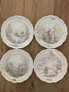 """Full set of 4 """"Wind In The Willows"""" plates by """"Royal Doulton"""" Christina Thwaites"""