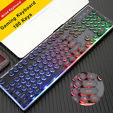 Gaming Keyboard and Mouse Set Rainbow LED Usb Ergonomic for Laptop  PC PS4 Xbox