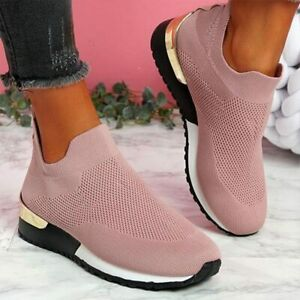 Elegant Elastic Slip-on Flat Shoes Soft Athletic Walking Shoes -Original Quality