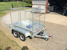 6x4 TWIN AXLE UNBRAKED,CAGED,BOX TRAILER,