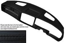 Negro Stitch Dash Dashboard Leather Skin Tapa se ajusta Saab 900 Clásica