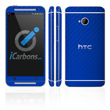 HTC ONE - Blue Carbon Fibre skin by iCarbons