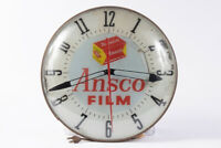Agfa Ansco Promotional Clock Advertisement TESTED And WORKING E14699