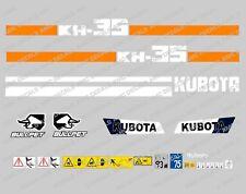 KUBOTA KH35 Mini Escavatore COMPLETO SET Decalcomania Adesivi