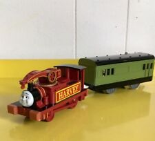 EXCELLENT COND THOMAS MOTORIZED HARVEY & CARRIAGE TRACKMASTER TRAIN SET
