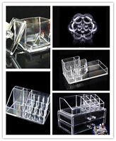 New Clear Acrylic Cosmetic Makeup Case Organizer Holder Drawers Storage Box