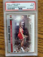2003 UD LeBron James PSA 9 Phenomenal Beginning Rookie Basketball Card #18