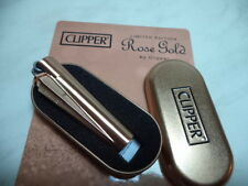 CLIPPER ACCENDINO LIGHTER IN METALLO ROSE GOLD ED. LIMITATA CON SCATOLA NEW