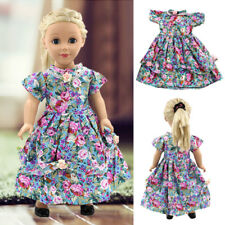 Handmade Doll Girl Floral Dress Clothes For 18inch Doll Toy Clothes Wear&