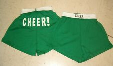 New listing Girls Small (6-8) Soffe Style Green Cheer Logo Athletic Shorts NWT