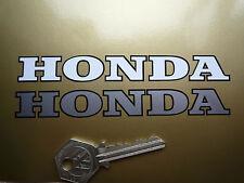 Honda Cut Vinilo Blanco Y Negro texto calcomanía Motocicleta pegatinas 125mm Par Moto X