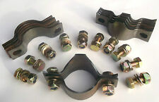 """6 Roll Cage Saddle Clamp Joints 45mm/1.75"""" tube space frame roll cage chassis"""