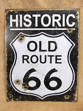 Old Route 66 Weathered Look NEW Tin Metal Sign Decor NEW
