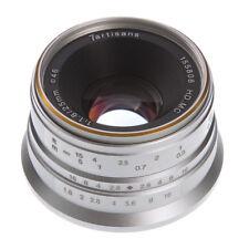 25mm F/1.8 Manual Focus MF Lens For Sony E-mount A6500 A6300 NEX-7 Camera Silver