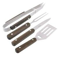 Outdoor Portable Barbecue Tool Set Grilling Stainless Steel BBQ Utensil 4PC/Set