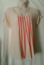 Autograph Polyester Striped Casual Tops & Blouses for Women