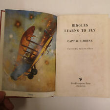 Biggles Learns to Fly by Captain W.E. Johns 1955 Vintage Book