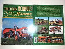livre tracteurs RENAULT 385 MASTER 1 et 2 TP 4x4 1963-1970NEUF sous blister