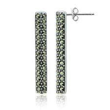 Butterfly Drop/Dangle Sterling Silver Natural Fine Earrings