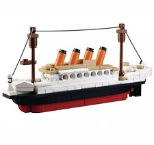 194Pcs DIY Plastic Titanic Ship Small Building Blocks Kids Model Toys