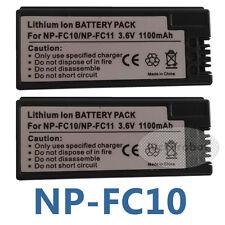 Two Battery For Sony NP-FC11 NP-FC10 DSC-P12 DSC-P10L P10S DSC-V1 P3 P5 P7