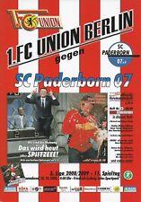 Neues AngebotProgramm 1.FC Union Berlin - SC Paderborn 25.10.2008  - 3. Liga 2008/2009