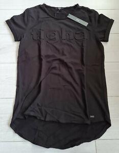 Tigha Herren Sweat T-Shirt Milo Logo Black  Größe M
