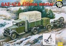 1/72 Gaz-42 & 120mm mortar Military Wheels 7250 Models kits