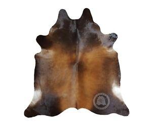 Genuine Cowhide Rug Mahogany Honey 6ft x 6ft - 150cm x 180cm - Luxury Cowhides