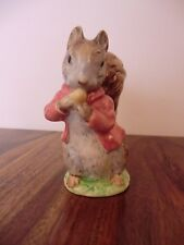 """BESWICK BEATRIX POTTER """"TIMMY TIPTOES"""" BROWN GREY SQUIRREL BP-2a GOLD BACKSTAMP"""