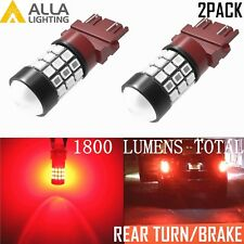 Alla Lighting 39-LED 3157 Red REAR Turn Signal Blinker /Brake Tail Light Bulbs