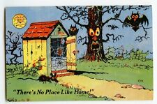 There's No Place Like Home! Spooky Outhouse Standard View Card