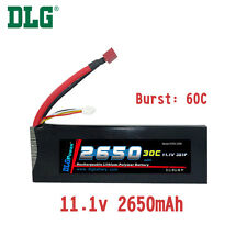 Genuine DLG RC Battery 11.1V 3S 30C 2650mAh Burst 60C Li-Po LiPo Dean's T plug