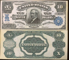 Reproduction Copy 1908 $10 Silver Certificate Thomas Hendricks US Currency Bill