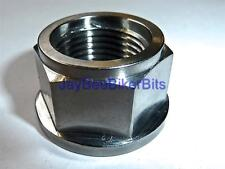 SUZUKI RM250 2004-ONWARDS  REAR AXLE FLANGED NUT TITANIUM M18X1.5 SWINGARM R2C8