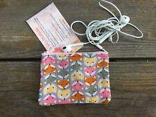 10 x7 cm Girls / Ladies Australian Handmade  Fox Woodlands card earphone holde
