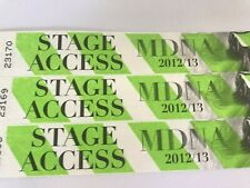 MADONNA 2012 MDNA OFFICIAL TOUR CONCERT Local Crew Backstage Wristbands set of 3