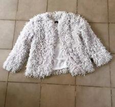 Zara Pearl Grey Shimmery Short Jacket Size S UK 8 BNWT
