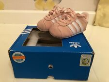 ADIDAS GAZELLE - CRIB BOOTS/SHOES - LIGHT PINK SUEDE LEATHER - EU SIZE 16/UK 0