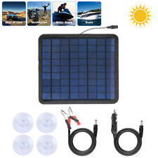5W Solar Panel 12V Portable Trickle Battery Charger for Maintainer Boat Rv Car