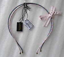 Juicy Couture Headband Thin Corded 2pc set Multi Colors