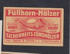 Ancienne étiquette   Allumettes Allemagne BN69239